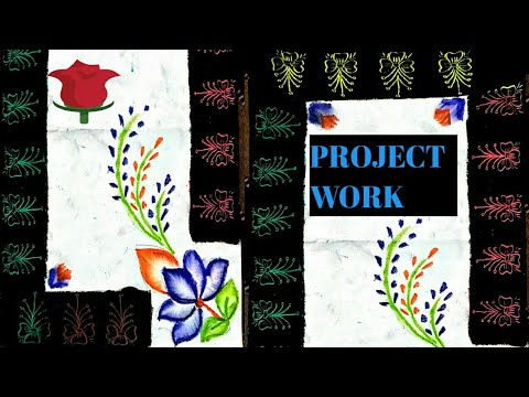 HOW TO DRAW SCHOOL PROJECT WITH OIL PASTELS|| SCHOOL PROJECT FRONT SHEET VERY EASILY