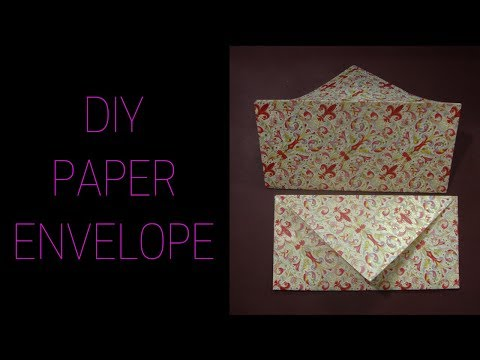 craft with paper. How to make a envelope from paper.