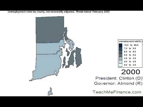 Rhode Island Unemployment  Map