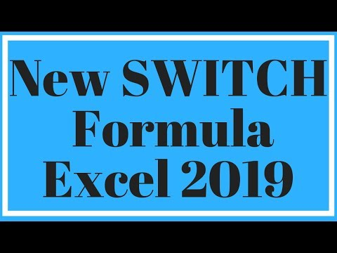 Switch Formula in Excel 2019