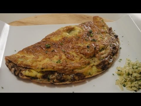 Mushroom and Cheese Stuffed Omelette | Sanjeev Kapoor Khazana