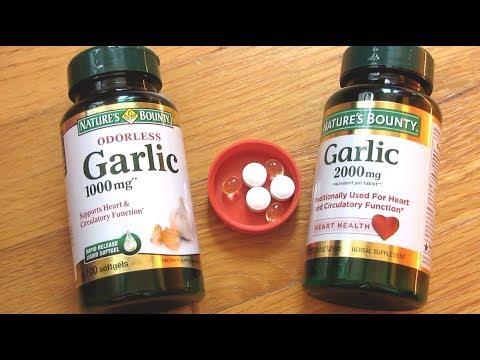 Natures Bounty Garlic Pills | Soft Gels vs Tablet
