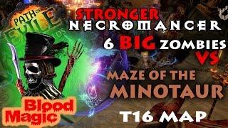 Path Of Exile 2 6   Necromancer The Baron 1200 Strength Blood Magic Tanking Minotaur Test