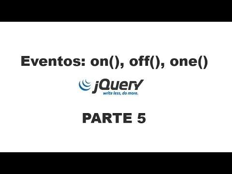 Tutorial jQuery 5 - Eventos (on, off, one)
