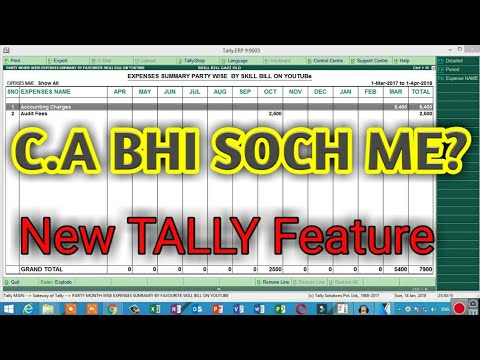 BEST TALLY REPORT FREE TDL FORM SKILL BILL | MONTH WISE EXPENSE REPORT | CHANGE DATE FORM DAYBOOK