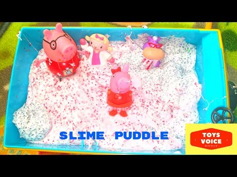 DIY Best Kids Slime Recipe with Peppa Pig | Toys Voice