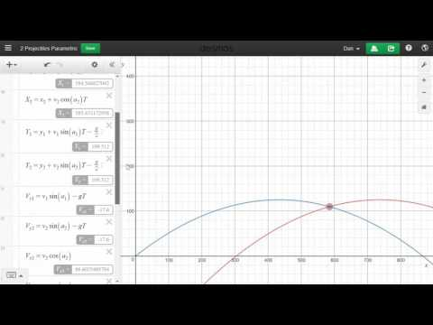 Projectile Motion Simulation in Demos
