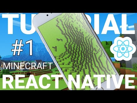 REACT NATIVE Programming: MINECRAFT App Tutorial! Part 1 With EXPO!