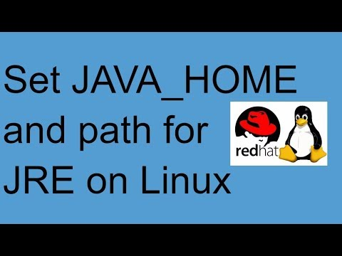 Set JAVA HOME and JRE path  on Linux