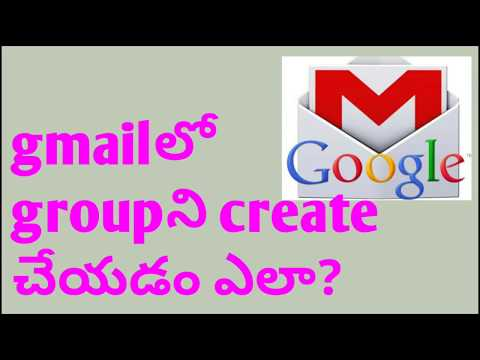 How to create a Gmail groups in Telugu(తెలుగు)