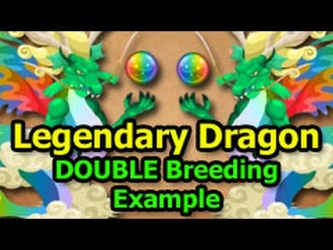 LEGENDARY DRAGON Dragon City Double Breeding Example How To Breed
