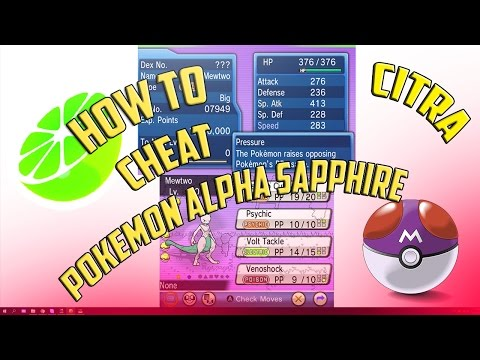 3DS Citra | How To Use Cheats on Pokemon Alpha Sapphire with PKHeX | With Download Links!