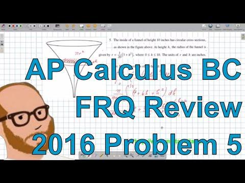 Calculus BC Free Response 2016 FRQ 5