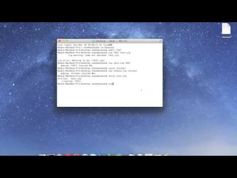 Terminal Lesson 10 - Zip and Unzip Files and Folders | Encrypted Zip Files
