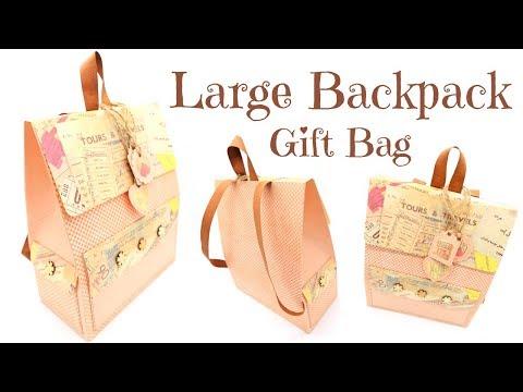 Large Paper Backpack Gift Bag