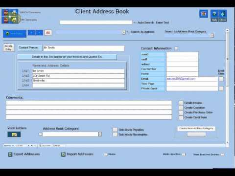 Changing Headings in the Client Address Book