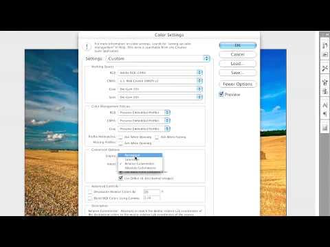 Adobe Photoshop CS3 Advanced  Optimizing Color Settings