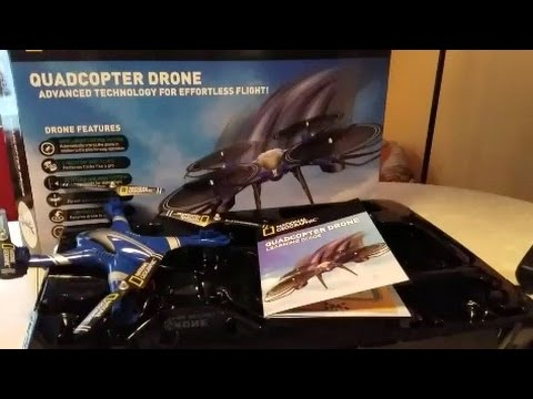 National Geographic Quadcopter Drone Unboxing and Instructional Review