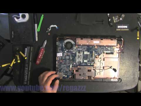 HP PAVILION G4 take apart video, disassemble, how to open disassembly