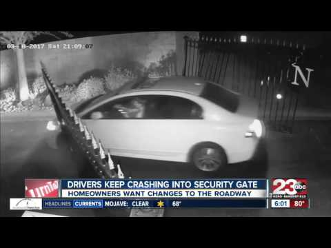 Drivers keep crashing into security gates at private community