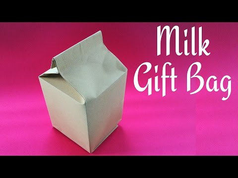 Milk Gift Bag/Box using A4 sheet - DIY Tutorial by Paper Folds