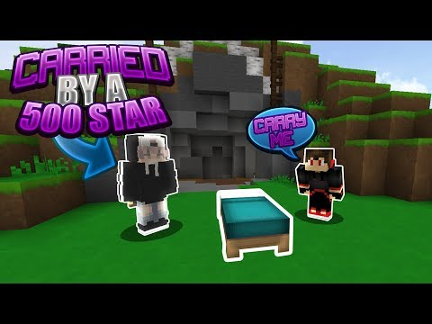 Carried by a 500 STAR ⭐ in Minecraft BedWars! (HYPIXEL BEDWARS)