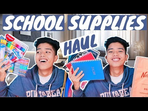 BACK-TO-SCHOOL SUPPLIES HAUL 2018 + GIVEAWAY FT. NBS | PHILIPPINES
