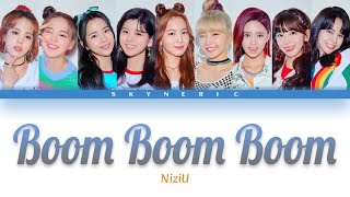 NiziU - Boom Boom Boom Color Coded Lyrics Video 歌詞 |JPN|ROM|ENG|