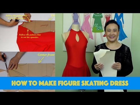 How to make figure skating dress  Video #31