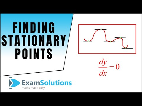 Differentiation : How to Find Stationary Points : ExamSolutions