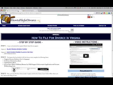 Free Virginia Divorce Papers and Forms