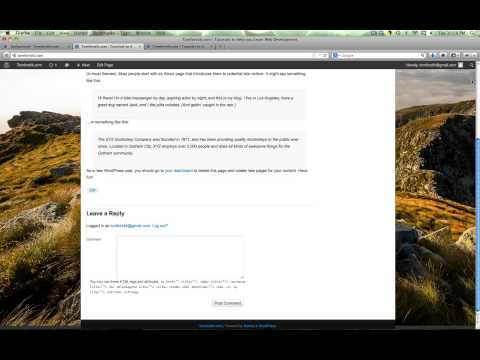 How to Change your Background Color or Image in Wordpress