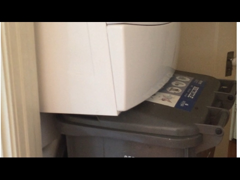 Easily Move A Stacked Dryer -- By Yourself --Only Takes One Person