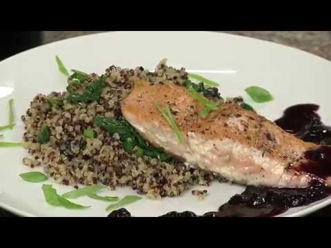 Alaska Salmon with Blueberry Sauce