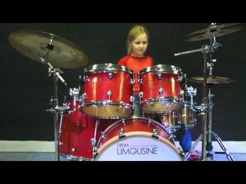Johanne Astrid Poulsen 9 years old on Drum Limousine