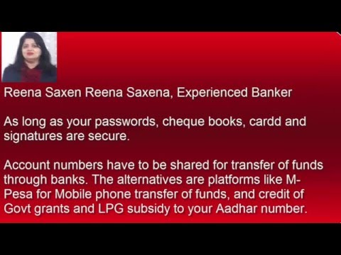 IS it safe to give out bank account number
