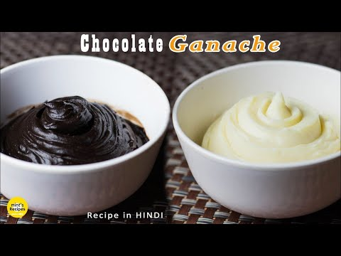 How To Make Chocolate Ganache For Cake Icing | White and Dark Chocolate Ganache | Mintsrecipes