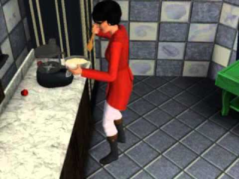 The Sims 3 - Cooking Angels cake