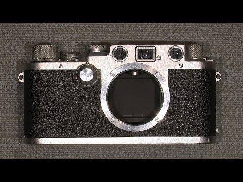 Repair the shutter curtain in Leica iii F with liquid rubber