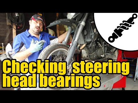 How to check Motorcycle steering head and wheel bearings #1951