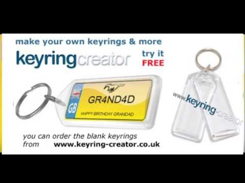 MAKE A PERSONALISED NUMBER PLATE KEYRING USING BLANK KEYRINGS MAKE A NUMBER PLATE KEYRING
