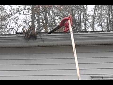 How to clean a gutter without a ladder