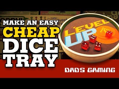Make an easy cheap dice tray