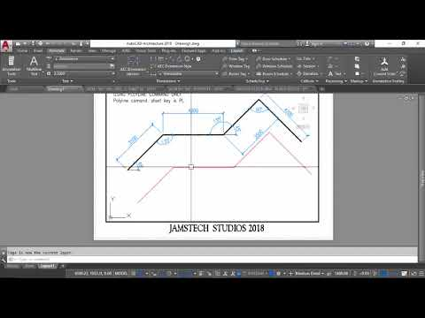 FAST & EASY WAY TO DRAW POLYLINE WITH ANGLES - AUTOCAD
