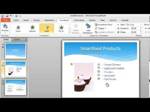 PowerPoint 2010 Tutorial 3 of 6 - Custom Animation