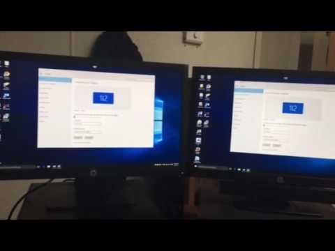 Displays settings for dual monitors