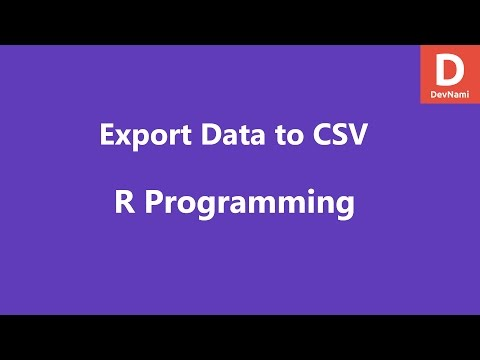 Export Data to CSV in R