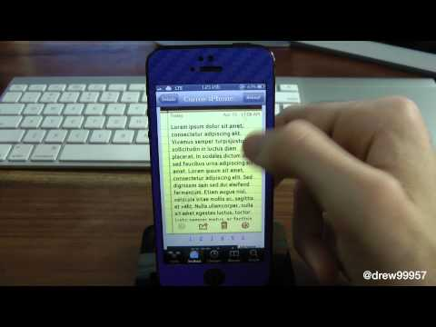 How To Change Font On iOS 6 For iPhone 5 iPad mini