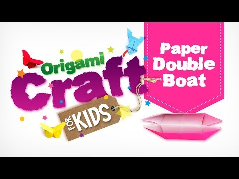 How to make Origami Paper Double Boat in Tamil | Origami Craft for Kids || Easy Paper Craft