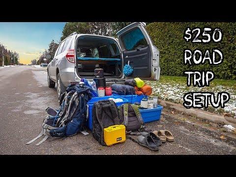 Super Cheap Road Trip Setup!   Budget Travel